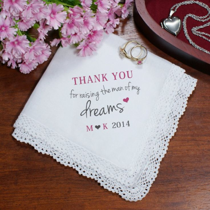 Personalized Mother of the Groom Handkerchief - Gifts Happen Here