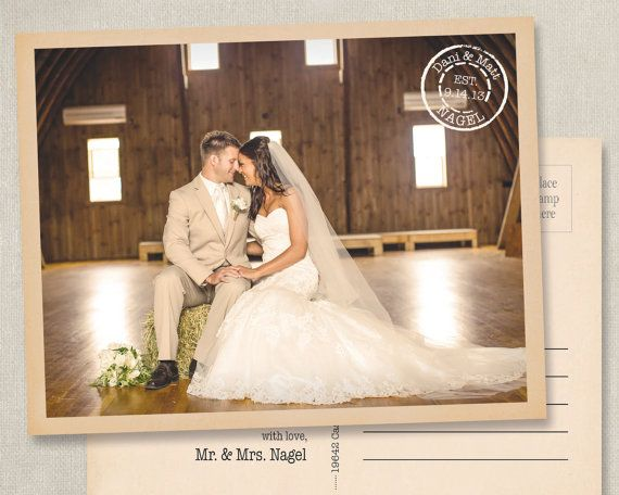 Wedding Thank You Photo Postcards Postcard Cards Card Note Notes Magnets Magnet rustic vintage western country shabby chic sepia old style    • • starting at $0.55 each! See page for details!