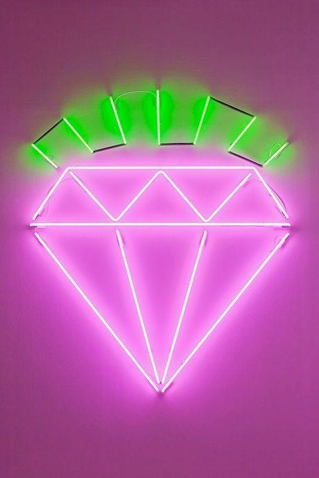 """NEON """"DIAMOND"""" SIGN ๑෴MustBaSign෴๑"""