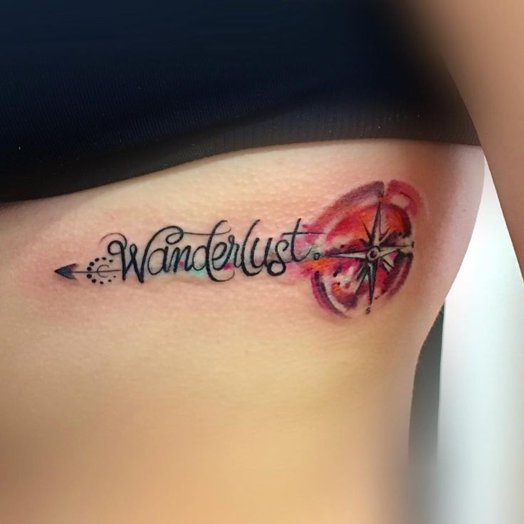 #wanderlust #tattoo #watercolor #compassrose
