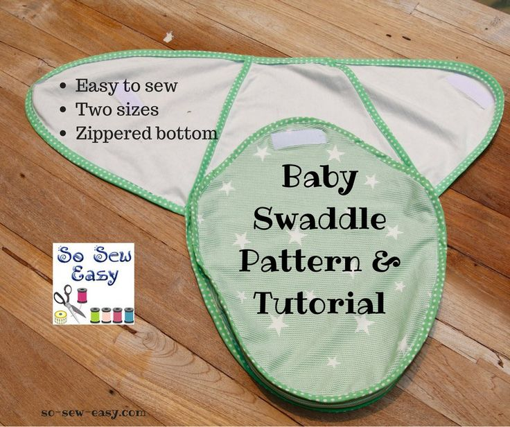 Baby Swaddle Pattern and Tutorial, in sizes small and medium. A great gift for any new or expectant mother.