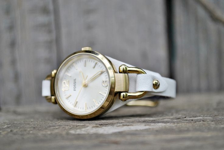 Free Shipping -Fossil Georgia 8mm Handmade White Leather Watch Strap- available on order, more colors by ChristianStraps on Etsy