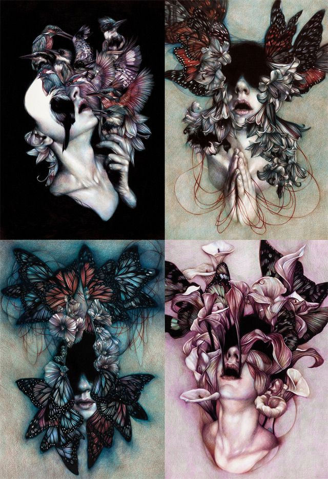 The Colored Pencil Drawings of Marco Mazzoni Depict the Cycles of Nature still life nature drawing