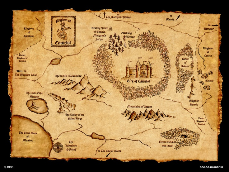 Map of Merlin's Camelot- been looking for this for awhile