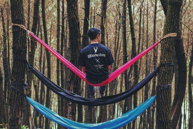 Sejiwa alam dan duniamu Melebur sifat kakuku Rasanya tak cukup waktu Terlalu cepat berlalu Soreku nyaman denganmu .  Fana Merah Jambu - @fourtwntymusic .  Thsirt by : @patriotxtech | #patriotxtech .  : @ilacitra .  #folkindonesia  #hammocklife by @apriansetiawan