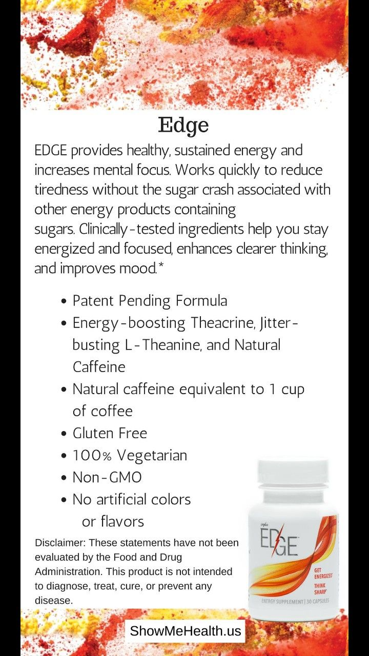 This is one of my favorite products! Need energy? Find yourself drinking coffee or energy drinks all day long? Replace those with Edge! Its natural energy all day long. What more could you want! Check it out for yourself. www.shopmyplexus.com/Lyndzipowers