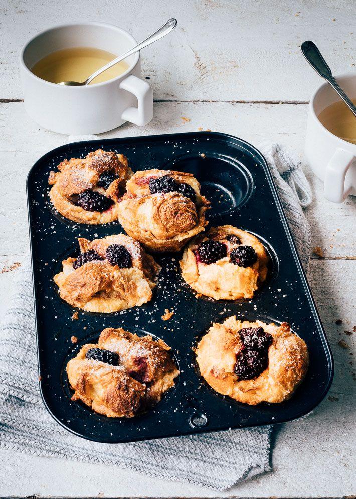 Croissant Muffins Met Bramen Uit Pauline S Keuken Recept Voedsel Ideeen Brunch Recepten Eten En Drinken