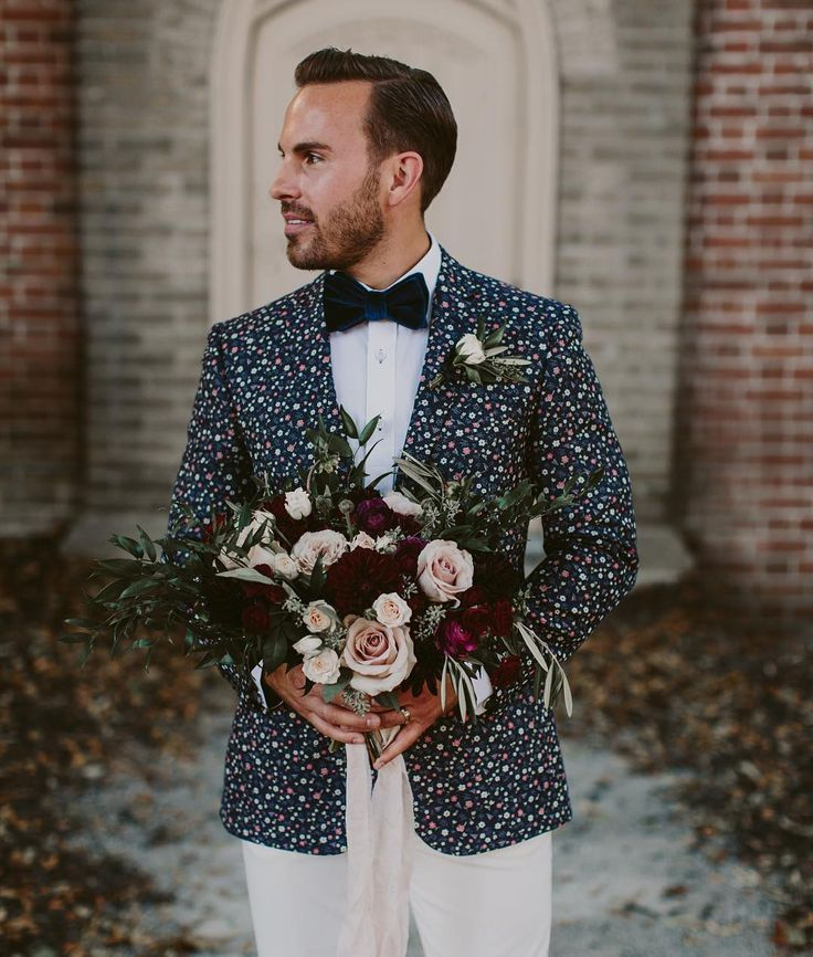 Floral Groom Suit  | Brandon Scott Photography