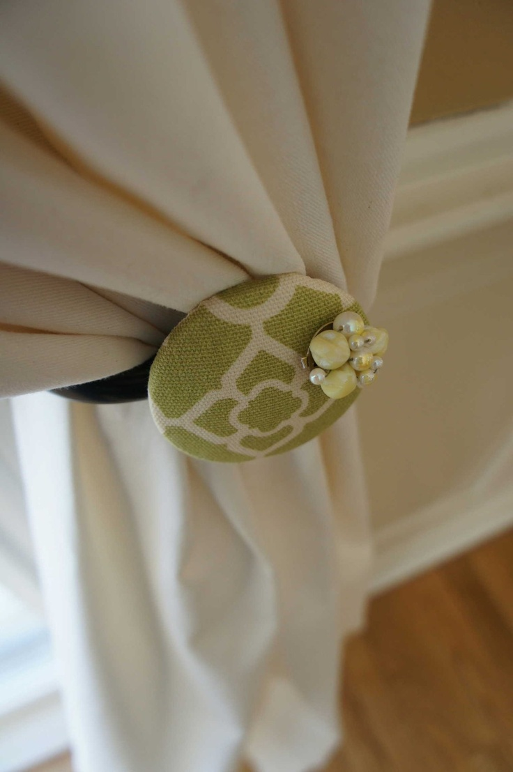 Diy flower curtain tie backs - Curtain Tie Back Love The Clean Green Modern Feel Will Have To