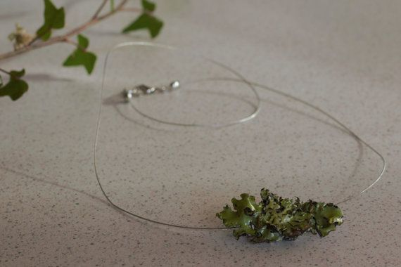 Necklace from the forest Lichen necklace by DreamsSanctuary