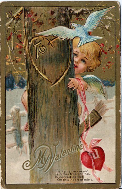 Valentine - Tree-carving Cherub