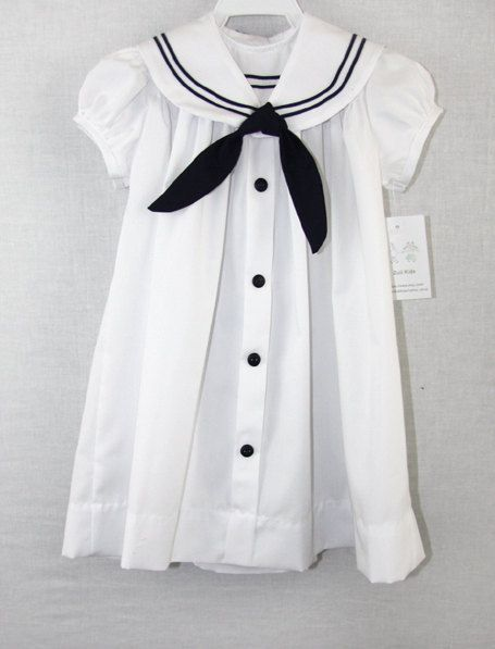 291792 - Baby Girl Clothes - Baby Clothes - Baby Girl Nautical - Baby Sailor Dress - Baby Sailor Outfit - Matching Sister Brother Clothing