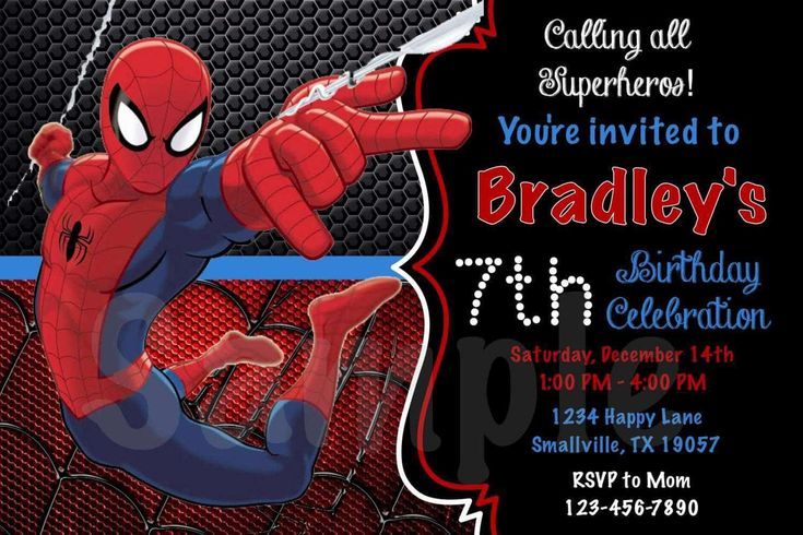 cool Spiderman Birthday Invitations Check more at http://www.egreeting-ecards.com/2016/12/24/spiderman-birthday-invitations/