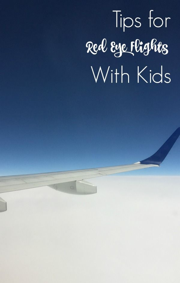 Travel Tips for Surviving a Red Eye Flight with Kids, including tips for outfits…