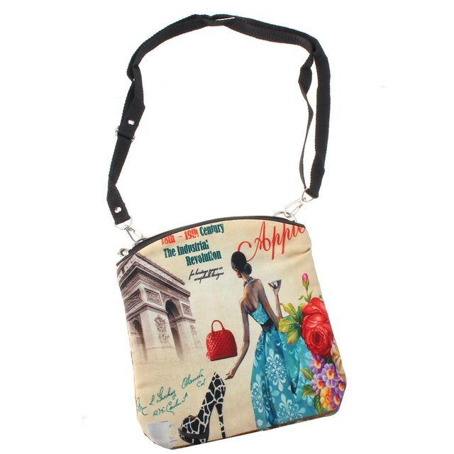 Новые сумки посыльного женщин винтаж холст печать маленькая сумка плеча европейский стиль девушки сумочка леди Bolsa кроссбоди мешок