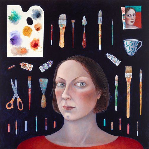 Madeleine Winch: Facing the canvas :: Archibald Prize 2017 :: Art Gallery NSW