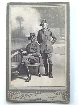 Australia was unique in WWI & WWII in that there was no segregation of units. Once a soldier was fit to fight his colour did not matter. This post card shows 2 troopers from the prestigous 9th Light Horse Regiment in France.