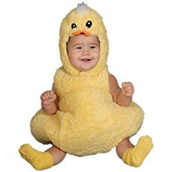 Baby Girl Little Baby Duck Costume, Yellow, Photo Prop