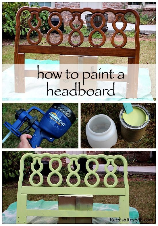 How to Paint a Headboard | Refresh Restyle