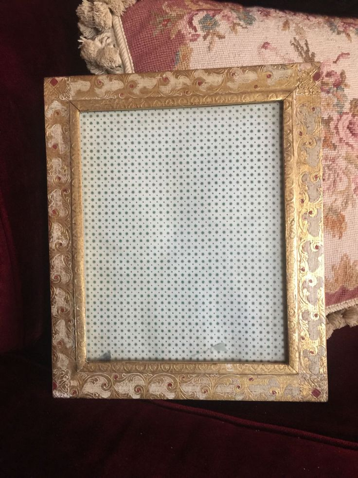 Italian Florentine gilded gold and cream picture frame by FrenchCountryGirl on Etsy