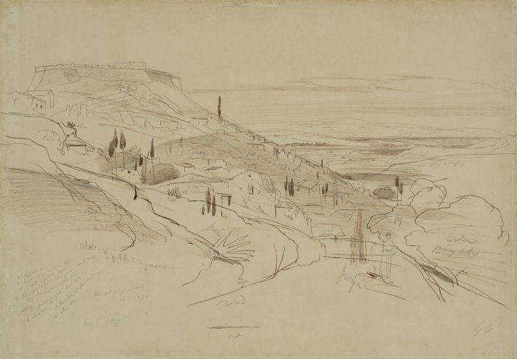 Edward Lear 'The Fortress of San George, near Argostoli, Cephalonia', 1848