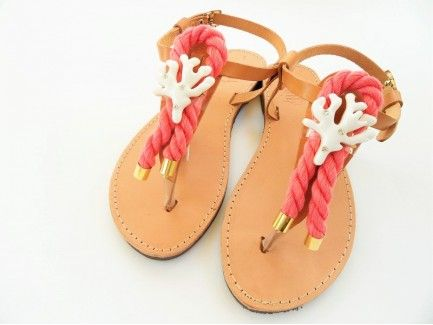 White Coral Sandals