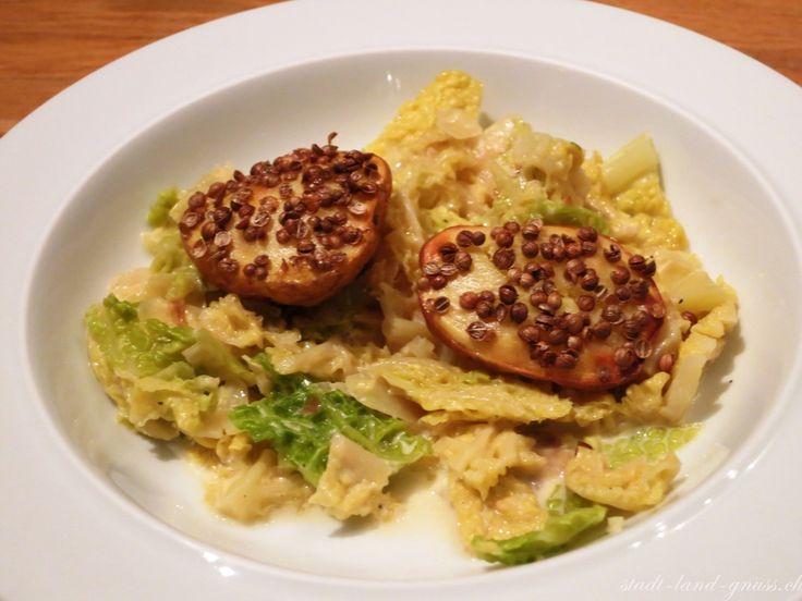 Wirzgemüse mit Ofenkartoffeln Rezept mit Wintergemüse