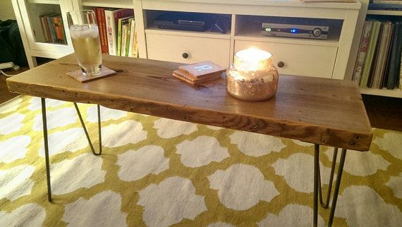 Small Urban Wood Reclaimed Wood Coffee Table / Bench by DendroCo, $180.00