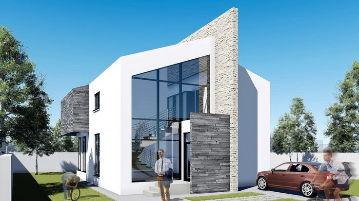 Proiect casa ASCEND.  Parter + Mansarda | 4 camere | 145 mp. Mai multe detalii gasiti aici: www.uberhause.ro/proiect-casa-parter-mansarda-145-mp-ascend