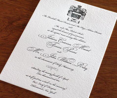 Family Crests on Wedding Invitations Photo