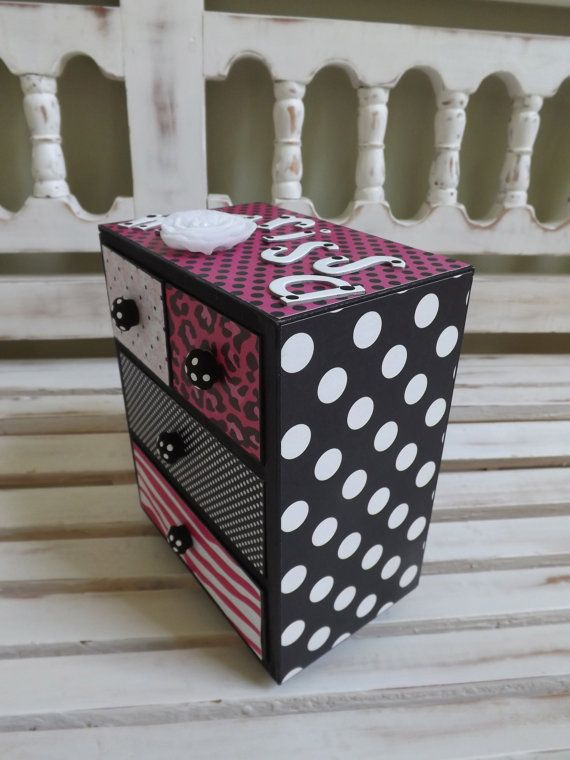 Jewelry Box Trinkets Chest Collectibles Gift for Girls Hot Pink Black Animal Leopard Print Treasure Chest