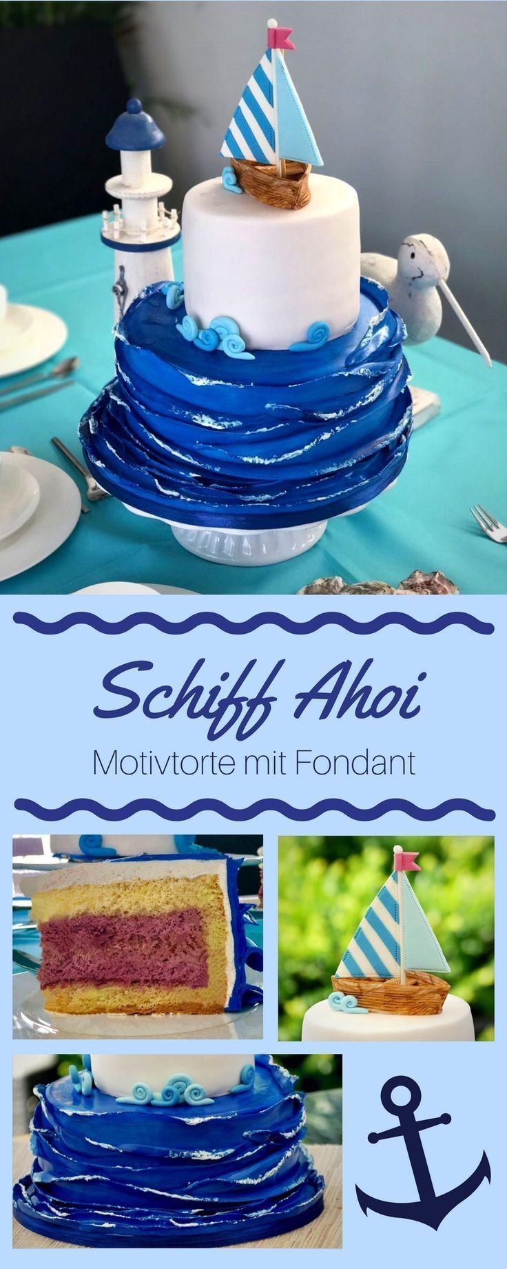 #Caketoppercakedecorationthemecakes #Fondant #Maritime #with #Motives – Birthday … – Torten