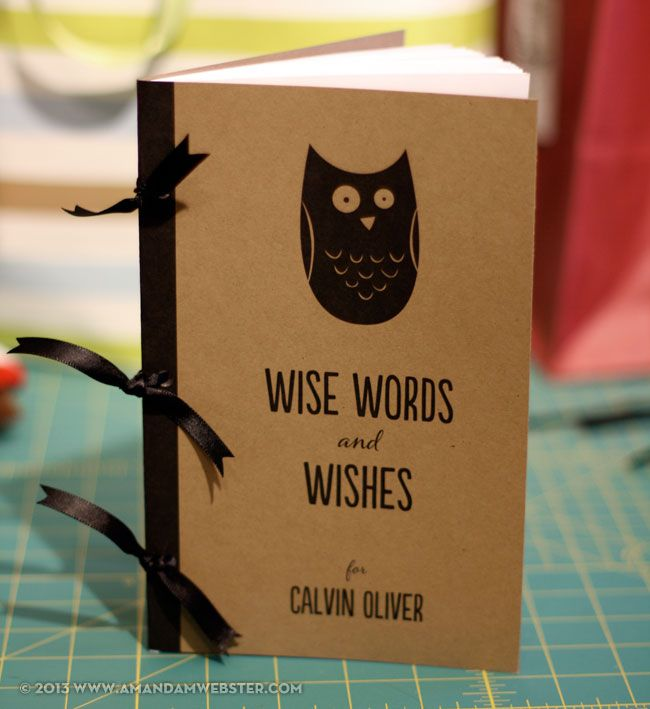 baby wishes and wise words book (template included)