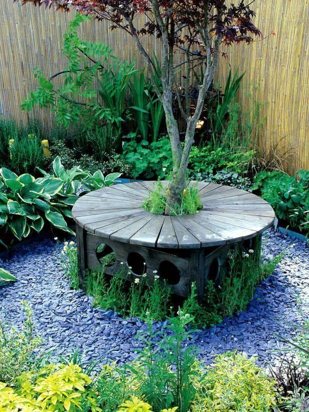 Vyrobte si lavičku kolem stromu