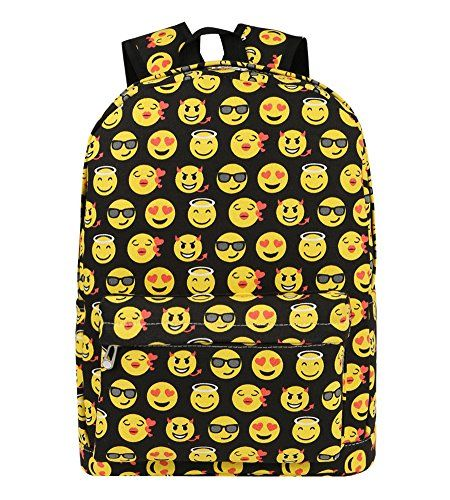 Zicac Kids' Smiling Face Backpack Student Canvas Emoji Backpack Satchel - http://affordable-handbags.mugambogroup.com/zicac-kids-smiling-face-backpack-student-canvas-emoji-backpack-satchel/