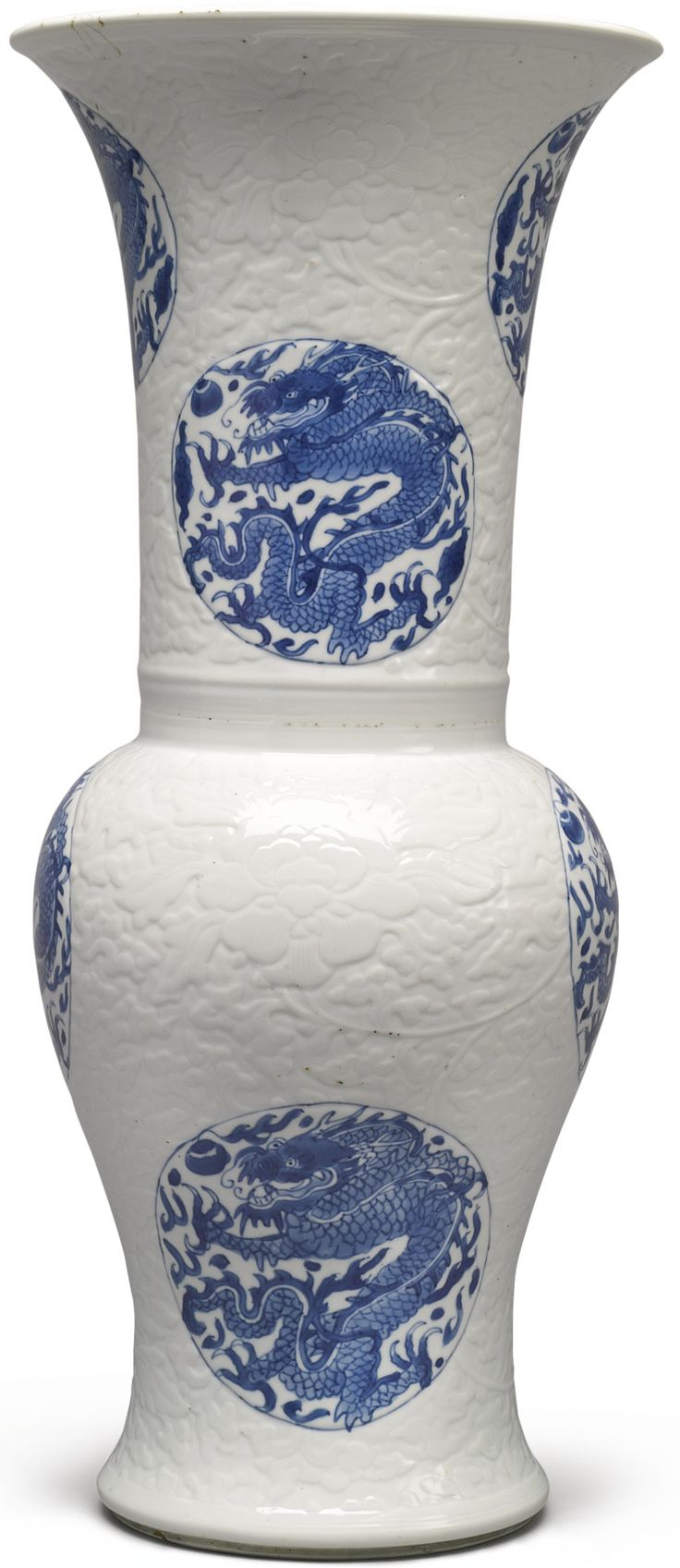 307 best chinese blue white ceramics images on pinterest white a blue and white molded yenyen vase qing dynasty kangxi period reviewsmspy
