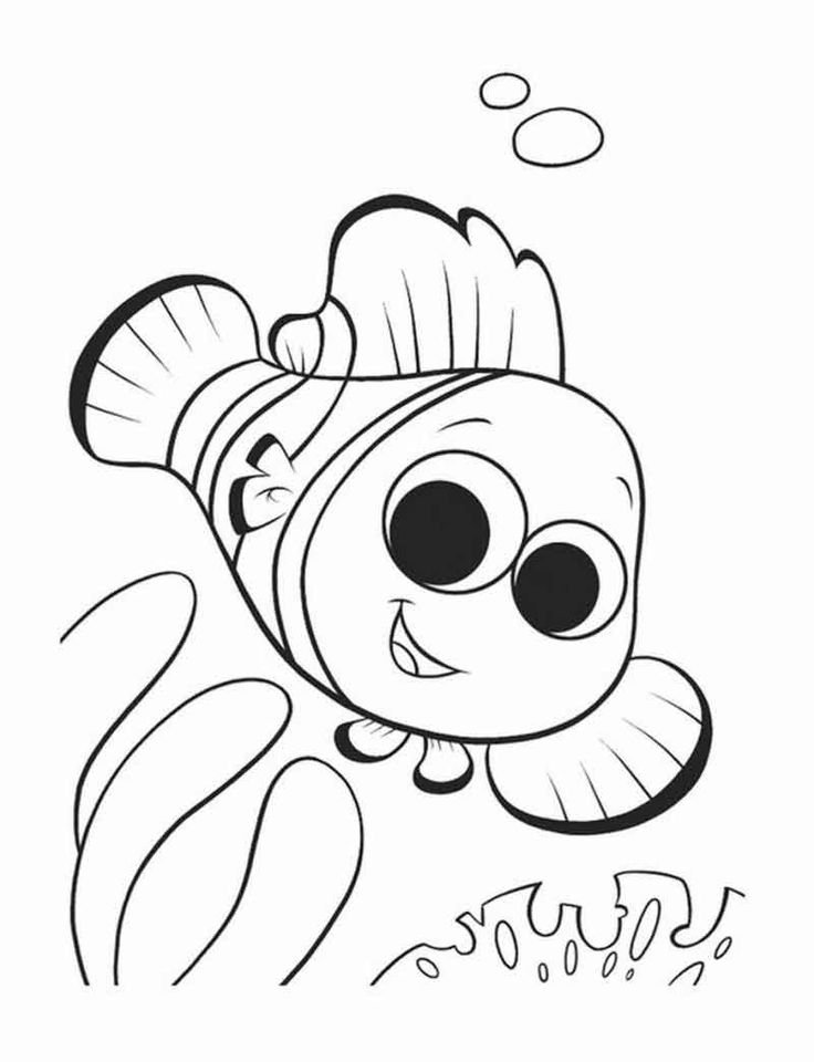 Nemo Coloring Pages To Print. in 2020 Nemo coloring