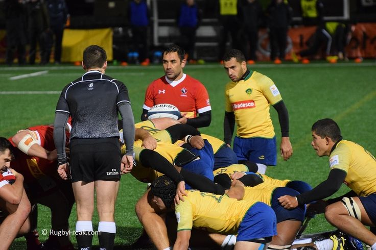 Phil Mack listens to the referee before playing the ball in the scrum. #rugbyfreak #sofreaky #loverugby #rugby #rugbycanada #teambrazil #teamcanada #ARC #philmack