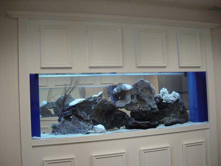 25 best fish tank images on pinterest fish aquariums for Built in fish tank