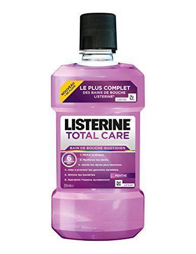 Listerine Bain de Bouche Total Care 6 en 1 Bouteille: Utilisé 2 fois par jour, Listeriez Total Care 250 ml nettoie et protège avec 6…