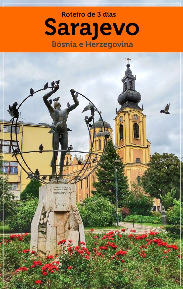 Roteiro de viagem de 3 dias na cidade de Sarajevo, capital da Bósnia e Herzegovina com dica de hospedagem e os principais pontos turísticos.