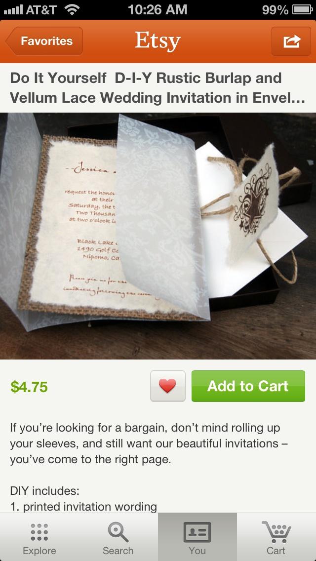 59 best rustic wedding invites images on pinterest invitations burlap invites wedding ideasrustic solutioingenieria Image collections