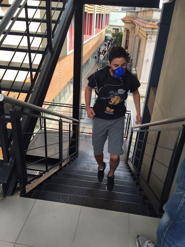 Stairs test with the new K5 at Laboratorio de Biomecánica y Análisis del Movimiento - Centro Universitario de Paysandú (Uruguay)