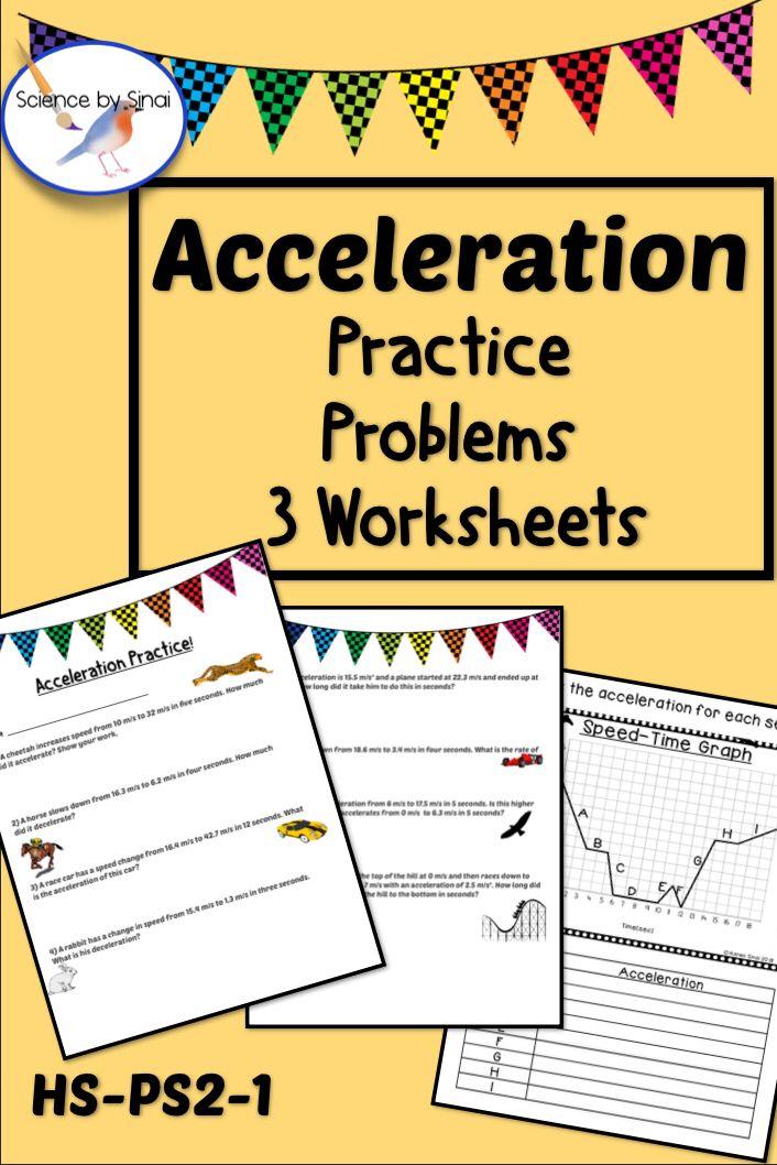 Acceleration Practice Problems Worksheet Average Acceleration Problems Ws 2 Evaluating Algebraic Expressions Worksheets Algebraic Expressions