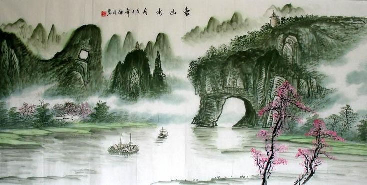 Chinese Landscape Painting : Artisoo.com, Buy Hand-painted Oil ...