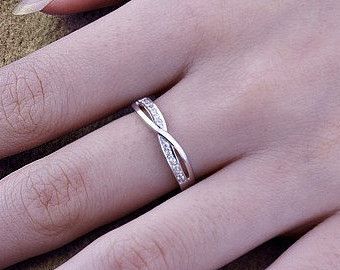 Platinum wedding ring, infinity Ring, Wedding Couples Rings, his and hers promise ring sets, wedding band, matching ring, Engagement Ring