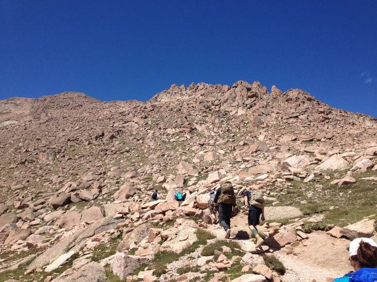 Hike up Pikes Peak on the Barr Trail: 13 miles, 6-8 hours, 7000-14110' elevation: one foot in front of the other.