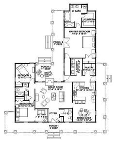 farmhouse floor plans with wrap around porch | Traditional House Plan First Floor - 028D-0054 | House Plans and More by Karen Tyson McBride