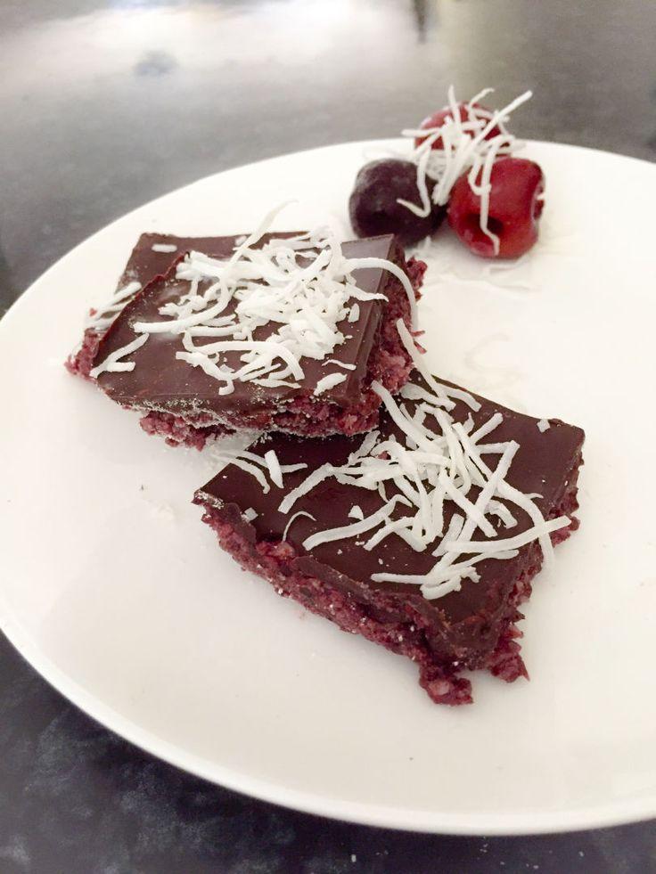 Healthy Cherry Ripe Slice