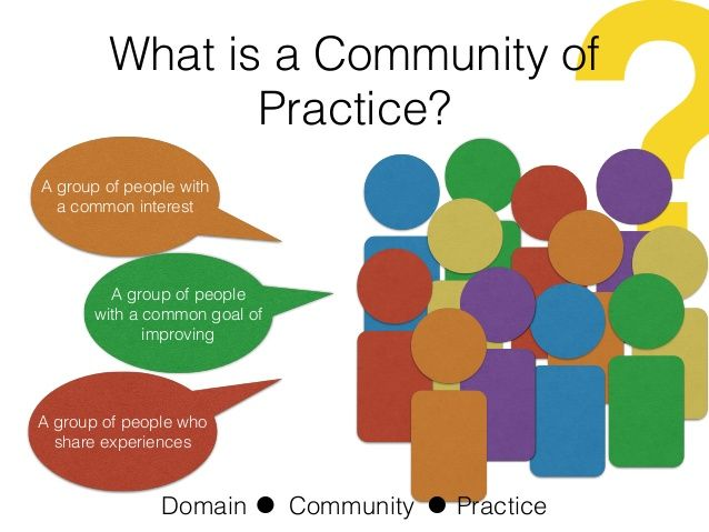 """Communities of practice are a form of social learning. """"Communities of practice are everywhere"""" (Wenger, 1998)."""